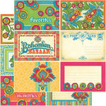 Graphic 45 - Bohemian Bazaar Collection - 12 x 12 Double Sided Paper - Lap of Luxury