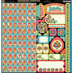 Graphic 45 - Bohemian Bazaar Collection - 12 x 12 Cardstock Stickers