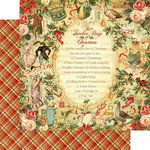 Graphic 45 - Twelve Days of Christmas Collection - 12 x 12 Double Sided Paper - Twelve Days of Christmas