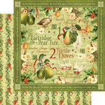 Graphic 45 - Twelve Days of Christmas Collection - 12 x 12 Double Sided Paper - Turtle Doves