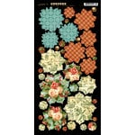 Graphic 45 - Twelve Days of Christmas Collection - Cardstock Flowers