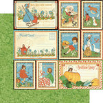 Graphic 45 - Mother Goose Collection - 12 x 12 Double Sided Paper - Storytime