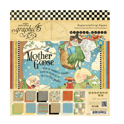 Graphic 45 - Mother Goose Collection - 8 x 8 Paper Pad