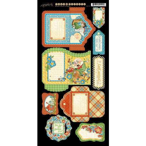 Graphic 45 - Mother Goose Collection - Cardstock Tags and Pockets
