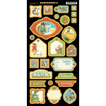 Graphic 45 - Mother Goose Collection - Die Cut Chipboard Tags - Two
