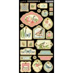 Graphic 45 - Botanical Tea Collection - Die Cut Chipboard Tags - Two