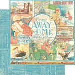 Graphic 45 - Come Away With Me Collection - 12 x 12 Double Sided Paper - Come Away With Me