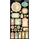Graphic 45 - Come Away With Me Collection - Die Cut Chipboard Tags - Two
