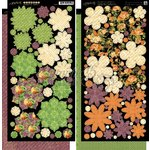 Graphic 45 - An Eerie Tale Collection - Halloween - Cardstock Flowers