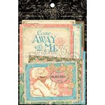 Graphic 45 - Come Away With Me Collection - 4 x 6 and 3 x 4 Journaling and Ephemera Cards