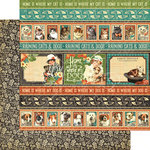 Graphic 45 - Raining Cats and Dogs Collection - 12 x 12 Double Sided Paper - Animal House