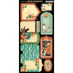 Graphic 45 - Raining Cats and Dogs Collection - Cardstock Tags and Pockets