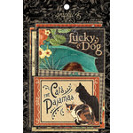 Graphic 45 - Raining Cats and Dogs Collection - 4 x 6 and 3 x 4 Journaling and Ephemera Cards