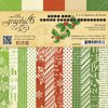 Graphic 45 - Twas the Night Before Christmas Collection - 6 x 6 Solids and Patterns Paper Pad