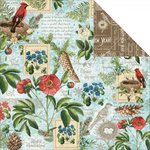 Graphic 45 - Time to Flourish Collection - 12 x 12 Double Sided Paper - January Flourish