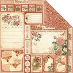 Graphic 45 - Time to Flourish Collection - 12 x 12 Double Sided Paper - February Cut Apart