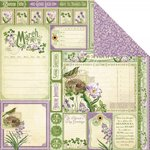 Graphic 45 - Time to Flourish Collection - 12 x 12 Double Sided Paper - March Cut Apart
