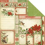 Graphic 45 - Time to Flourish Collection - 12 x 12 Double Sided Paper - December Cut Apart