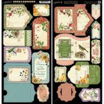 Graphic 45 - Time to Flourish Collection - Cardstock Tags and Pockets