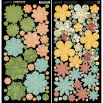 Graphic 45 - Time to Flourish Collection - Cardstock Flowers