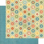 Graphic 45 - Home Sweet Home Collection - 12 x 12 Double Sided Paper - Granny's Quilt