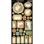 Graphic 45 - Home Sweet Home Collection - Die Cut Chipboard Tags - Two