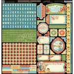 Graphic 45 - Home Sweet Home Collection - 12 x 12 Cardstock Stickers