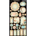 Graphic 45 - Precious Memories Collection - Die Cut Chipboard Tags - Two