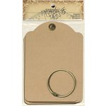 Graphic 45 - Staples Collection - Regular Tag Album - Kraft