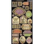 Graphic 45 - Rare Oddities Collection - Die Cut Chipboard Tags - Two