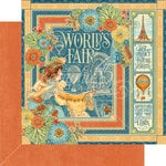 Graphic 45 - Worlds Fair Collection - 12 x 12 Double Sided Paper - Worlds Fair