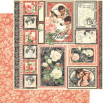 Graphic 45 - Mon Amour Collection - 12 x 12 Double Sided Paper - One and Only