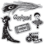 Graphic 45 - Hampton Art - Curtain Call Collection - Cling Mounted Rubber Stamps - One