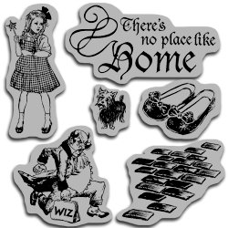 Graphic 45 - Hampton Art - The Magic of Oz Collection - Cling Mounted Rubber Stamps - Magic Two