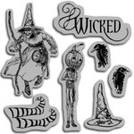 Graphic 45 - Hampton Art - The Magic of Oz Collection - Cling Mounted Rubber Stamps - Wicked Magic Three