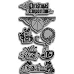 Graphic 45 - Hampton Art - Christmas Emporium Collection - Cling Mounted Rubber Stamps - Christmas Emporium One
