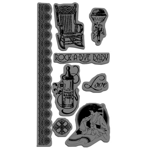 Graphic 45 - Hampton Art - Little Darlings Collection - Cling Mounted Rubber Stamps - Little Darlings Three