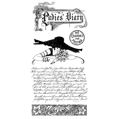 Graphic 45 - Hampton Art - Ladies' Diary Collection - Cling Mounted Rubber Stamps - Ladies Diary One