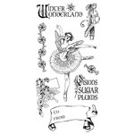 Graphic 45 - Hampton Art - Nutcracker Sweet Collection - Christmas - Cling Mounted Rubber Stamps - Holiday Two