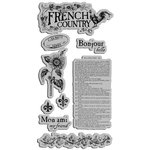 Graphic 45 - Hampton Art - French Country Collection - Cling Mounted Rubber Stamps - French Country One