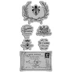 Graphic 45 - Hampton Art - French Country Collection - Cling Mounted Rubber Stamps - French Country Three