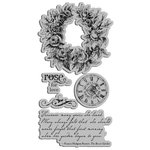 Graphic 45 - Hampton Art - Secret Garden Collection - Cling Mounted Rubber Stamps - Secret Garden Two