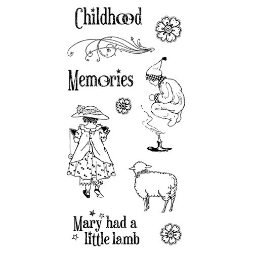 Graphic 45 - Hampton Art - Mother Goose Collection - Cling Mounted Rubber Stamp Two