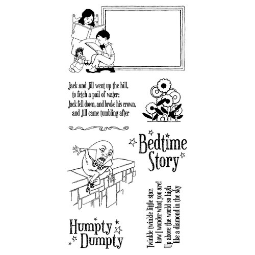 Graphic 45 - Hampton Art - Mother Goose Collection - Cling Mounted Rubber Stamp Three