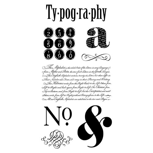 Graphic 45 - Hampton Art - Typography Collection - Cling Mounted Rubber Stamp One