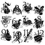 Graphic 45 - Hampton Art - Twelve Days of Christmas Collection - Cling Mounted Rubber Stamp Two