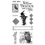 Graphic 45 - Hampton Art - An Eerie Tale Collection - Halloween - Cling Mounted Rubber Stamps - Two