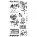 Graphic 45 - Hampton Art - Time to Flourish Collection - Cling Mounted Rubber Stamps - Two
