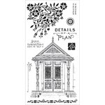 Graphic 45 - Hampton Art - Artisan Style Collection - Cling Mounted Rubber Stamps - Three