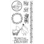 Graphic 45 - Hampton Art - Precious Memories Collection - Cling Mounted Rubber Stamps - Three